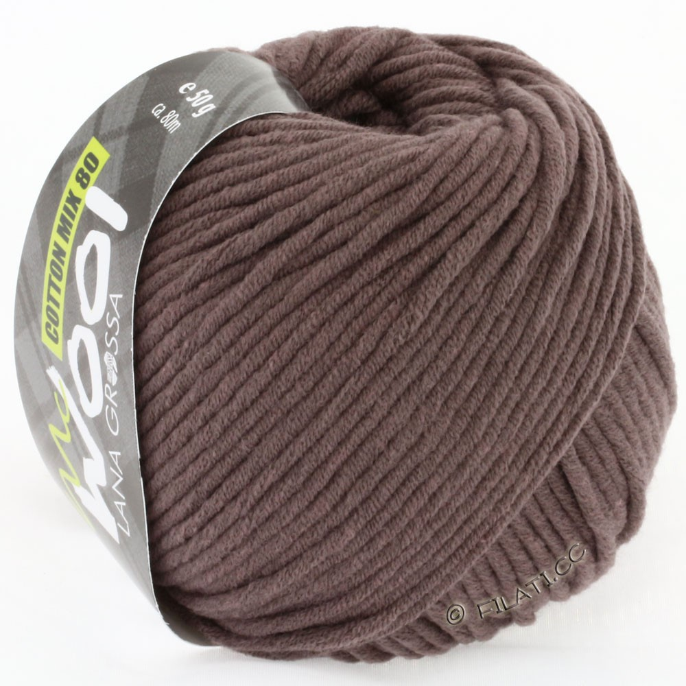 Lana Grossa COTTON MIX 80 (McWool) | 514-brun gris