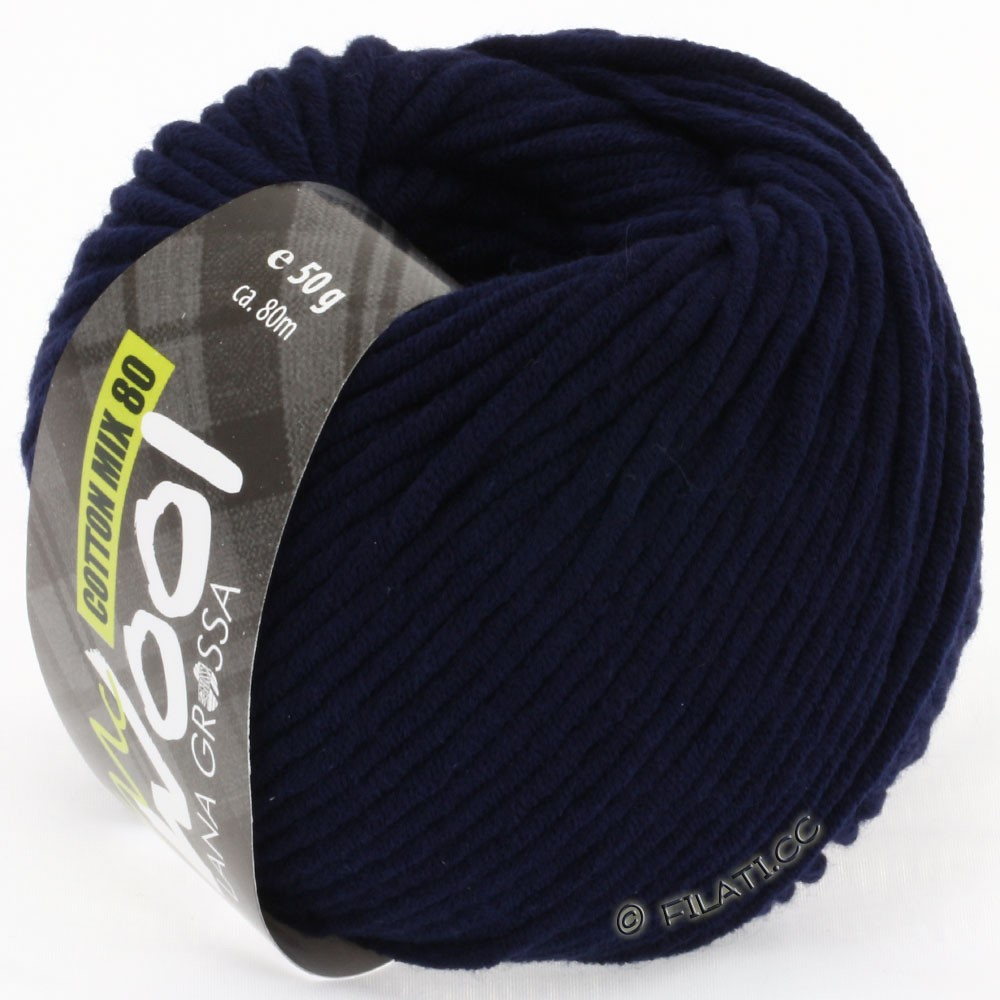 Lana Grossa COTTON MIX 80 (McWool) | 517-bleu nuit