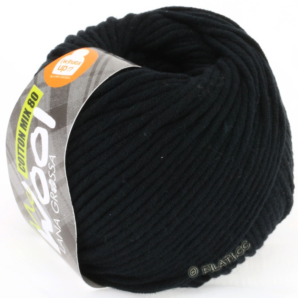Lana Grossa COTTON MIX 80 (McWool) | 518-noir