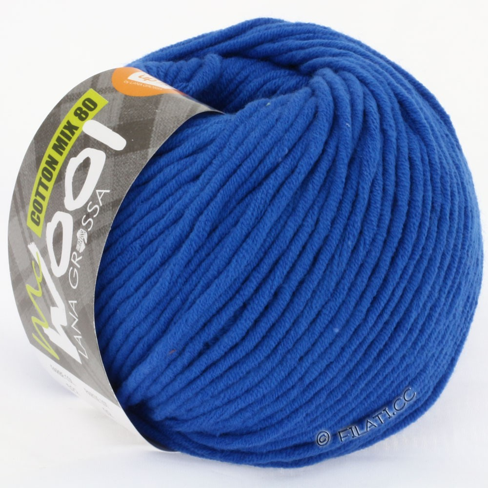 Lana Grossa COTTON MIX 80 (McWool) | 522-bleu cobalt
