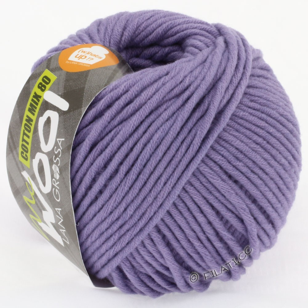 Lana Grossa COTTON MIX 80 (McWool) | 523-pourpre