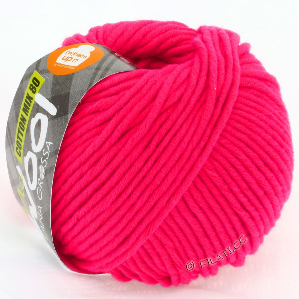Lana Grossa COTTON MIX 80 (McWool) | 524-framboise