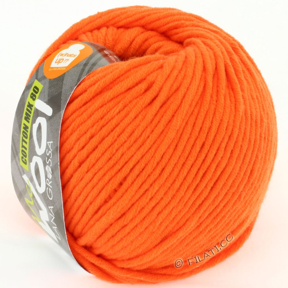 Lana Grossa COTTON MIX 80 (McWool) | 525-mandarine