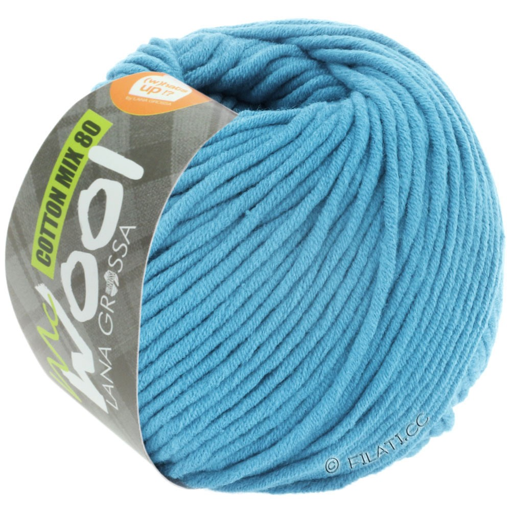 Lana Grossa COTTON MIX 80 (McWool) | 537-bleu ciel