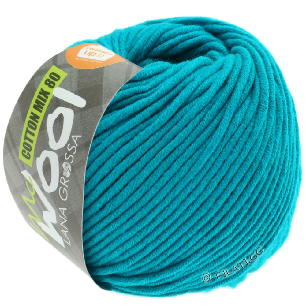 Lana Grossa COTTON MIX 80 (McWool) | 548-pétrole