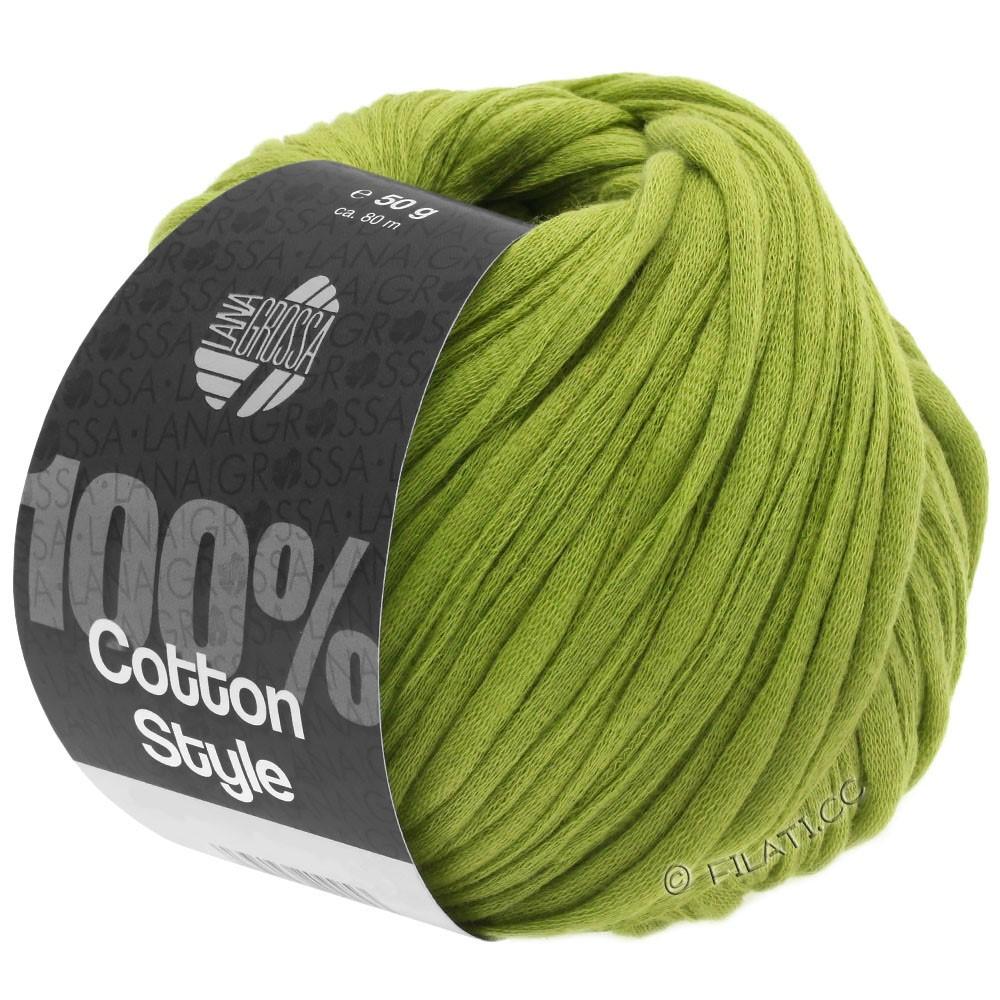 Lana Grossa COTTON STYLE | 10-vert jaune