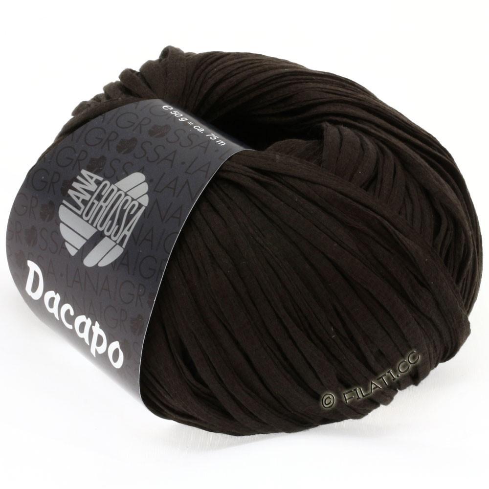 Lana Grossa DACAPO Uni | 022-brun noir