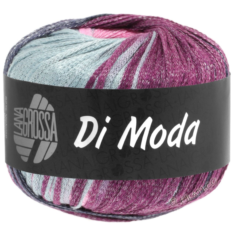 Lana Grossa DI MODA | 02-gris clair/rose/prune/violet bleu