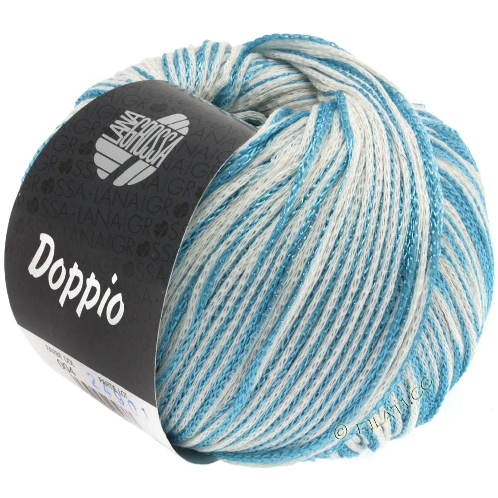 Lana Grossa DOPPIO/DOPPIO Unito | 004-turquoise/blanc