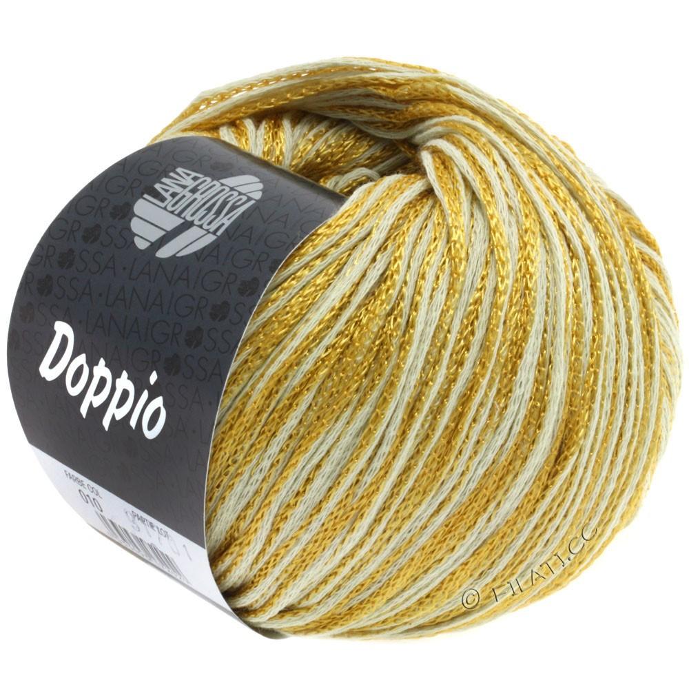 Lana Grossa DOPPIO/DOPPIO Unito | 010-jaune moutarde/nature