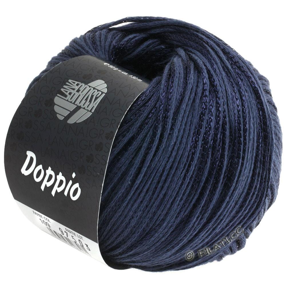 Lana Grossa DOPPIO/DOPPIO Unito | 109-bleu foncé