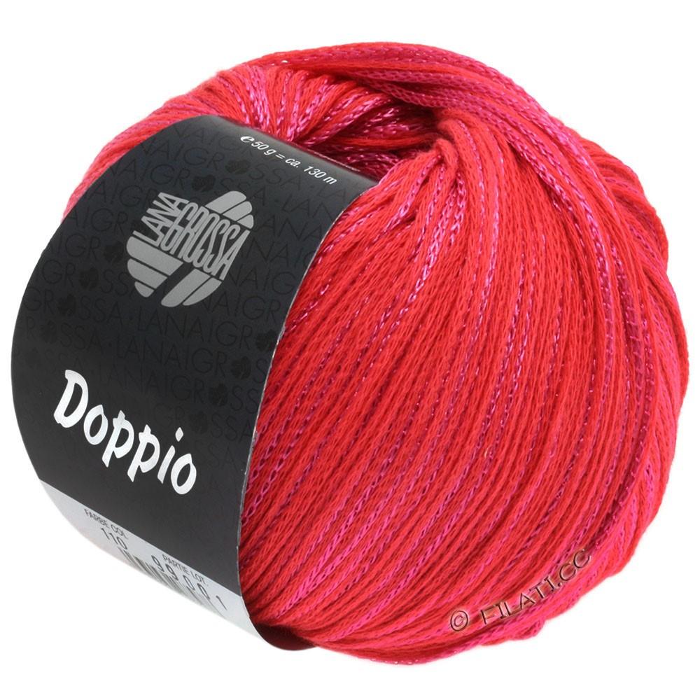 Lana Grossa DOPPIO/DOPPIO Unito | 110-rouge fraise