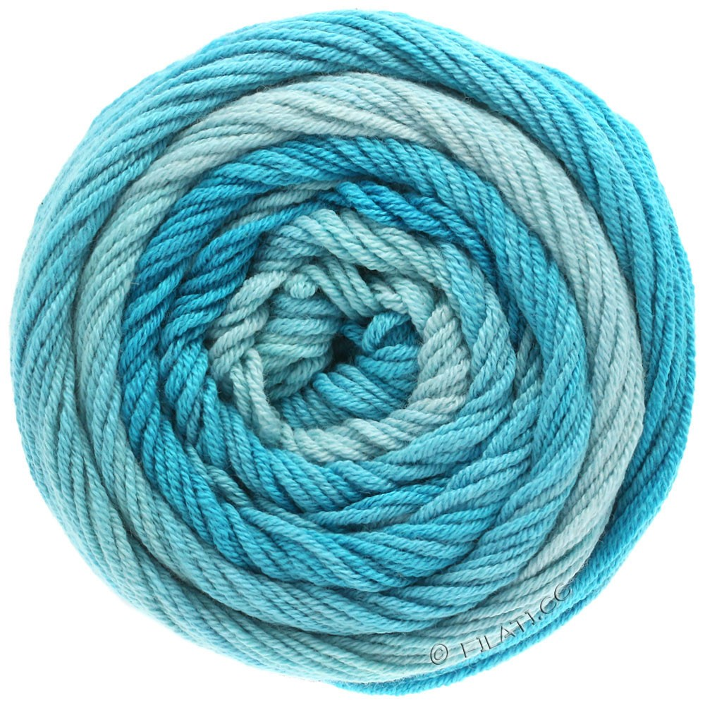 Lana Grossa ELASTICO Degradé | 704-bleu clair/turquoise pastel/bleu turquoise