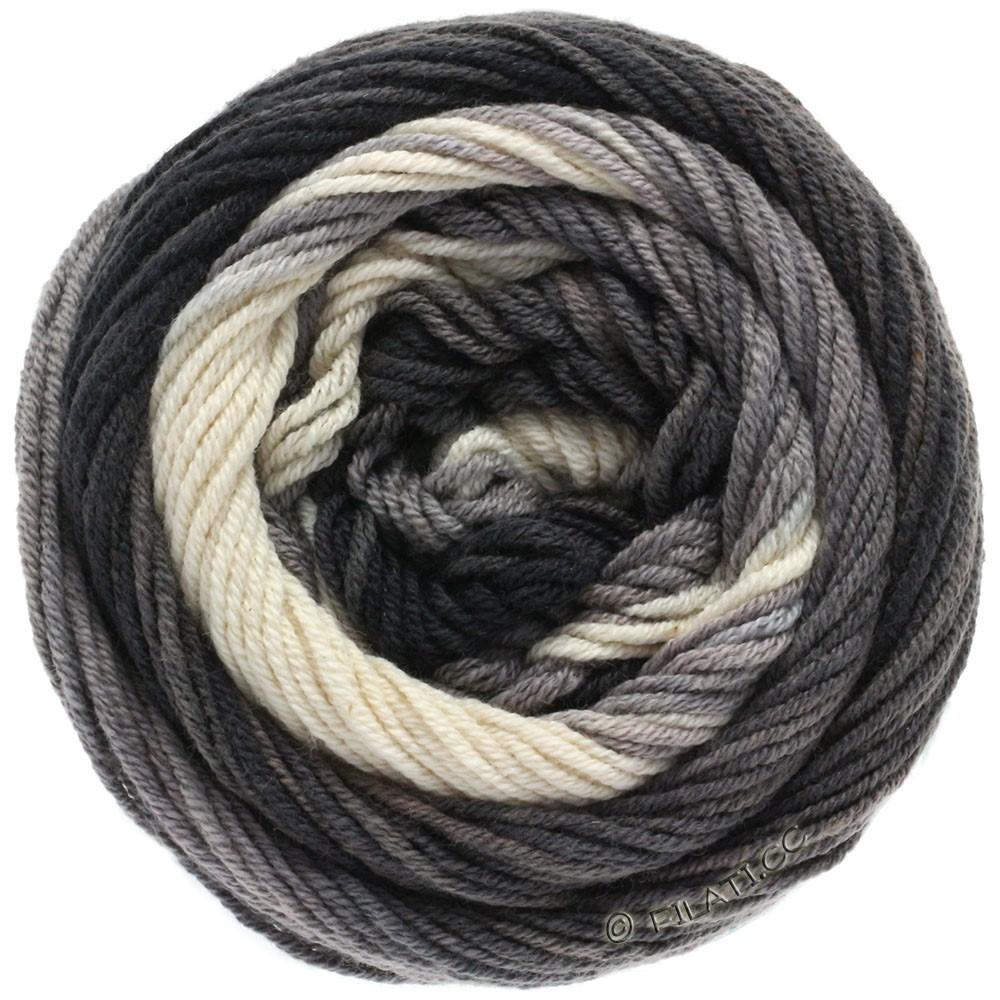 Lana Grossa ELASTICO Degradé | 709-nature/gris clair/gris moyen/anthracite/noir