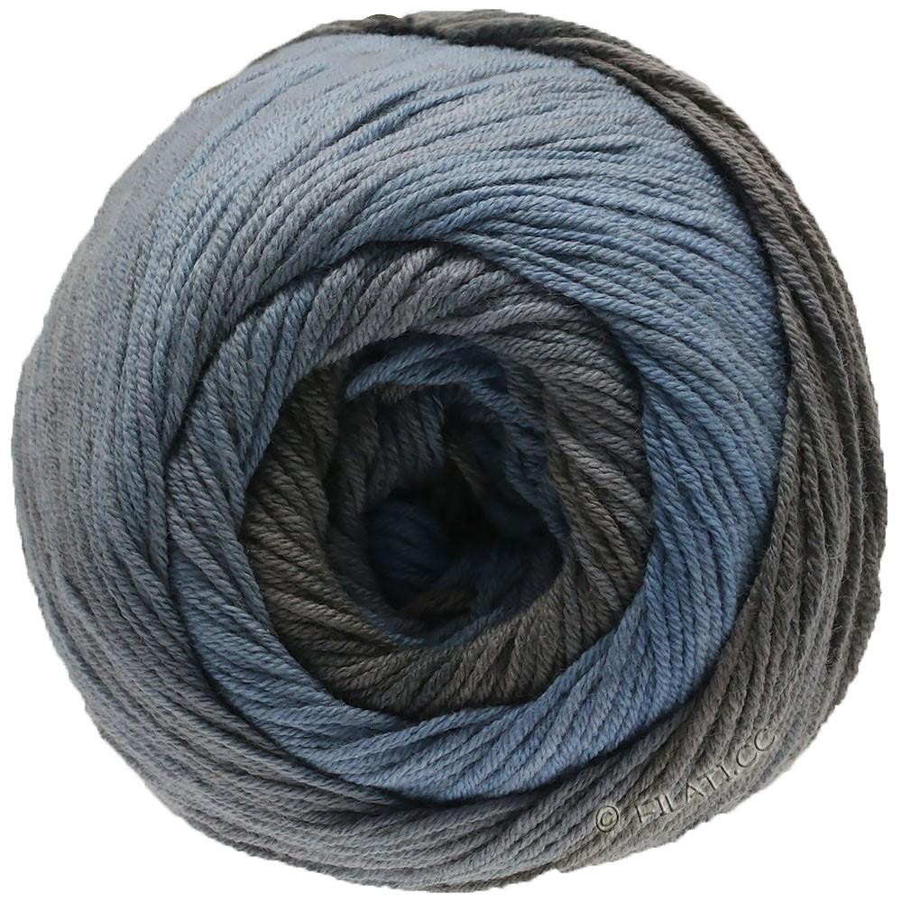 Lana Grossa ELASTICO Degradé | 712-bleu fumé/gris moyen/brun gris