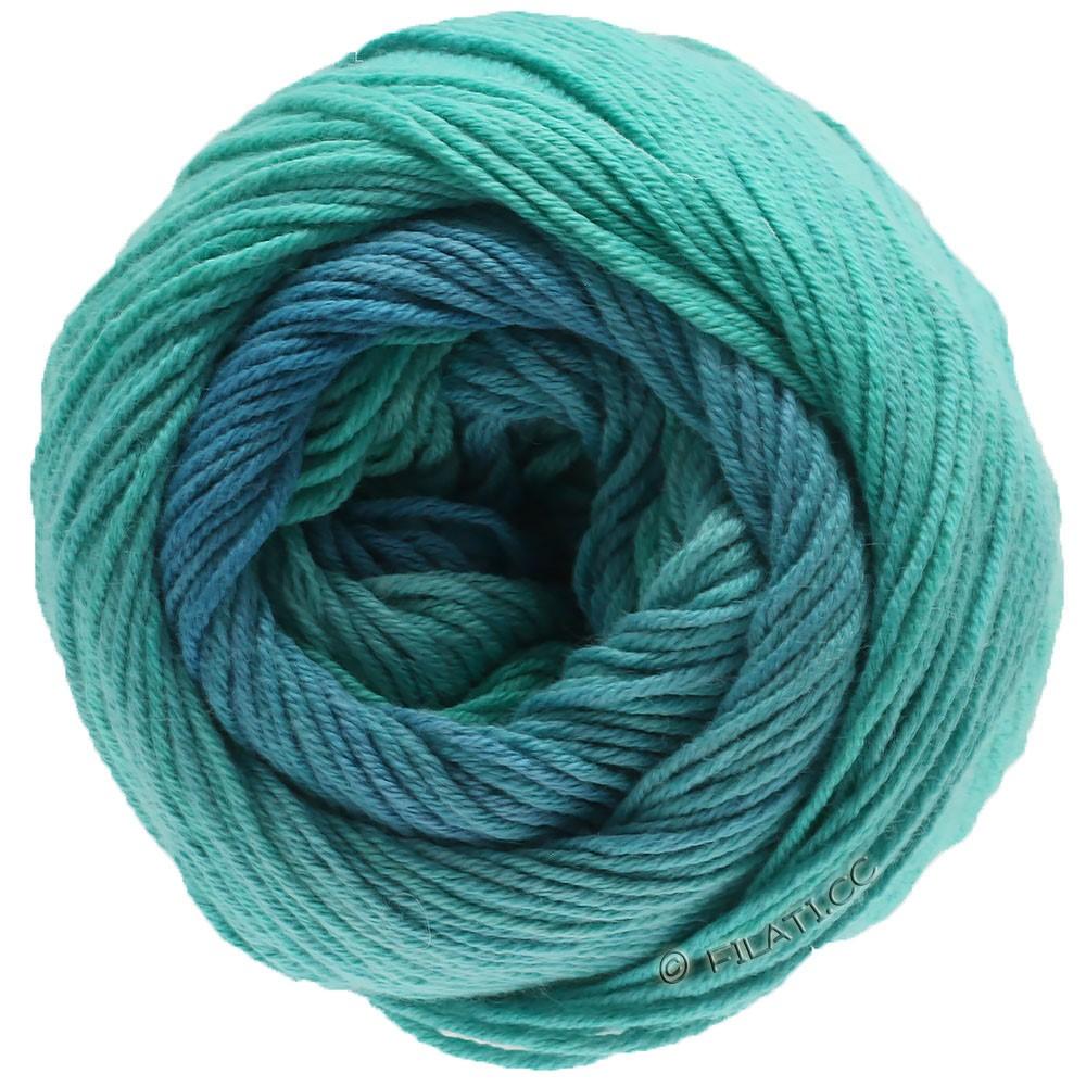 Lana Grossa ELASTICO Degradé | 714-aigue marine/vert turquoise/pétrole clair