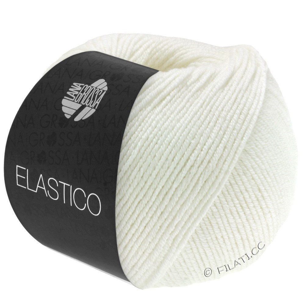 Lana Grossa ELASTICO  Uni/Print | 036-écru