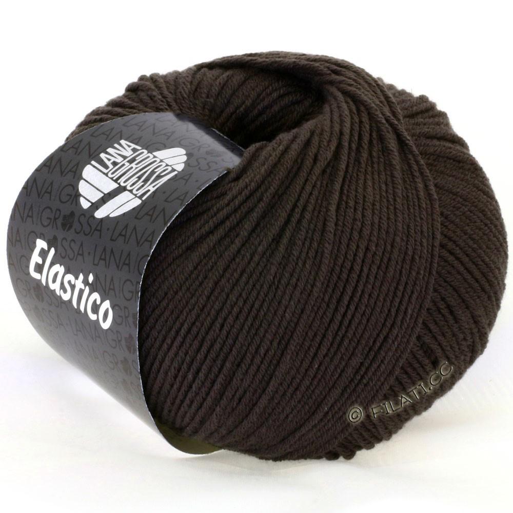 Lana Grossa ELASTICO  Uni/Print | 079-brun noir