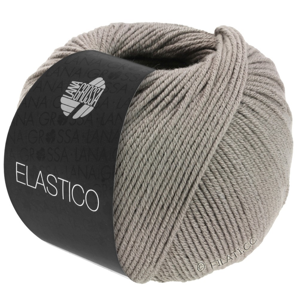 Lana Grossa ELASTICO  Uni/Print | 137-brun gris