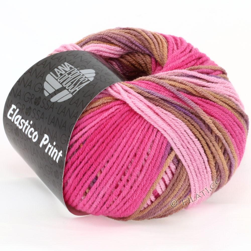 Lana Grossa ELASTICO  Uni/Print | 507-rose/rose vif/cognac/violet