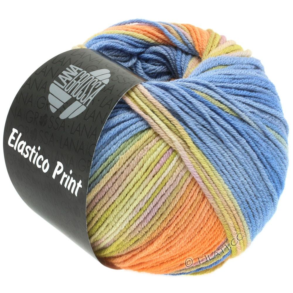 Lana Grossa ELASTICO  Uni/Print | 519-vanille/abricot/rose/bleu clair/beige