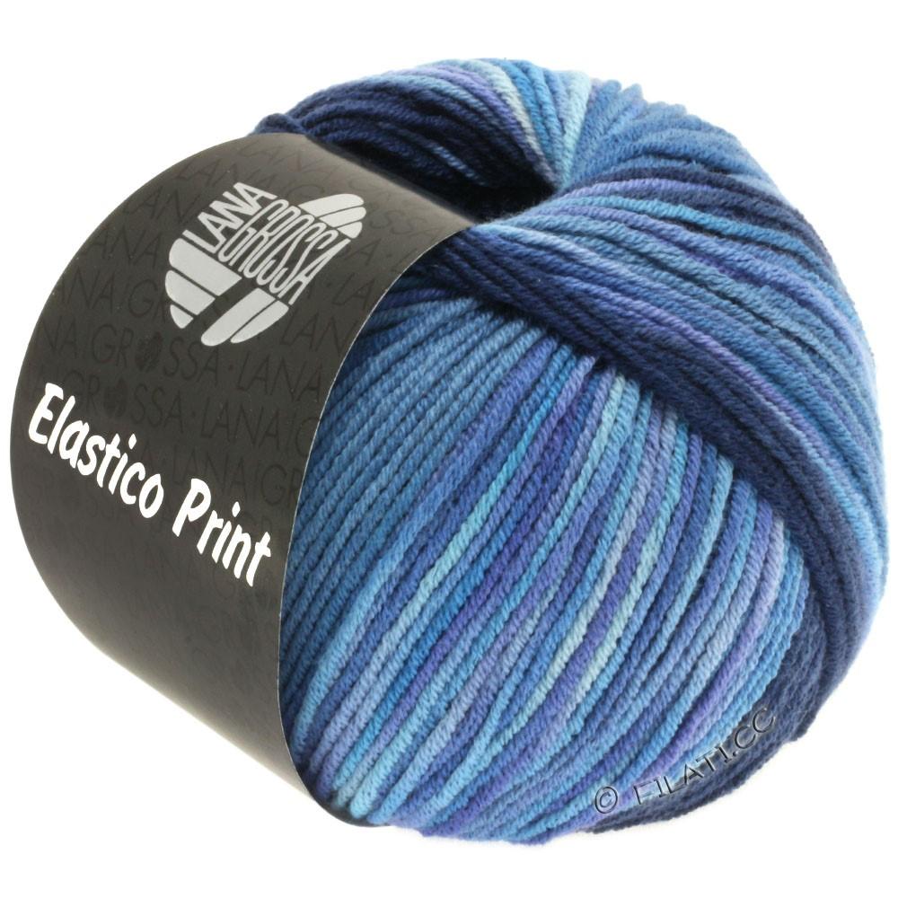 Lana Grossa ELASTICO  Uni/Print | 520-bleu nuit/jean/violet bleu/lilas