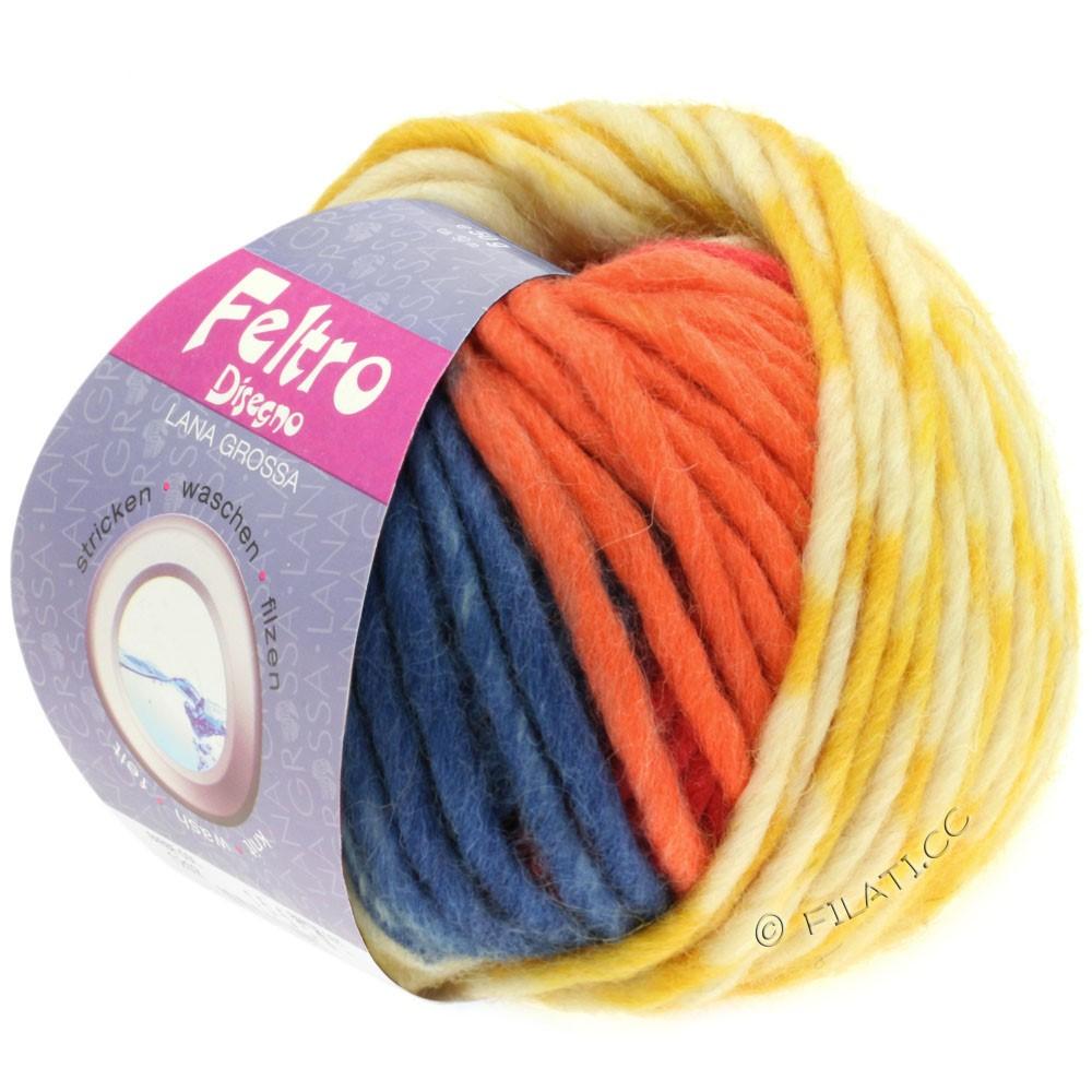 Lana Grossa FELTRO Disegno | 1201-écru/jaune/orange/bleu clair