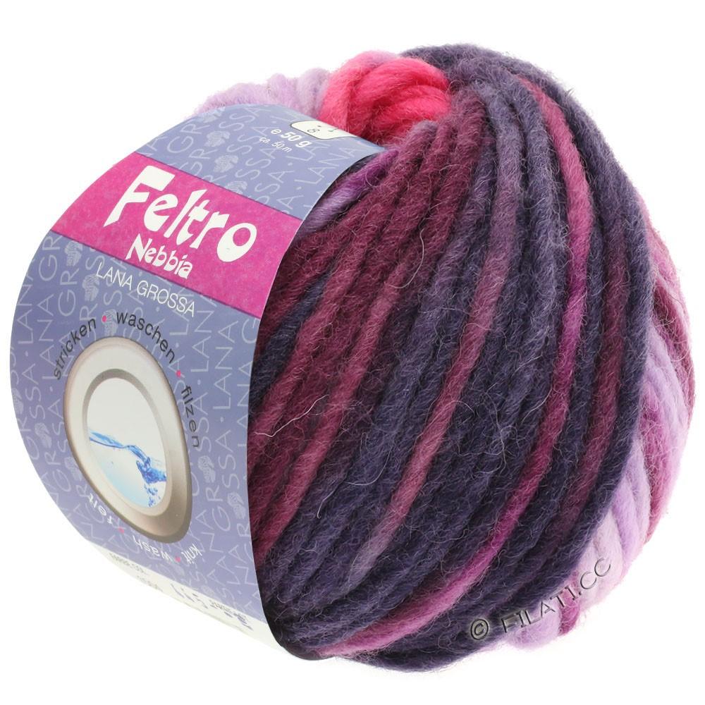 Lana Grossa FELTRO Nebbia | 1502-rose vif/pourpre/violet rouge
