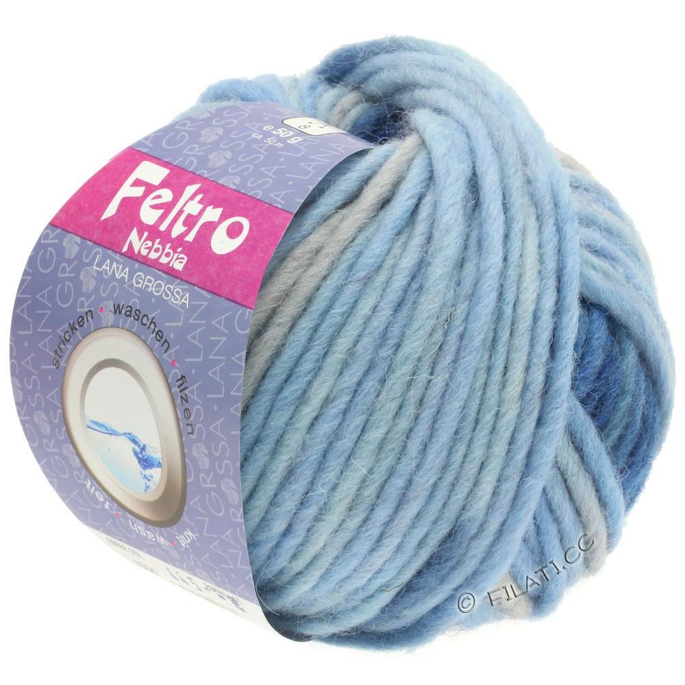 Lana Grossa FELTRO Nebbia | 1504-bleu clair/bleu ciel/bleu foncé