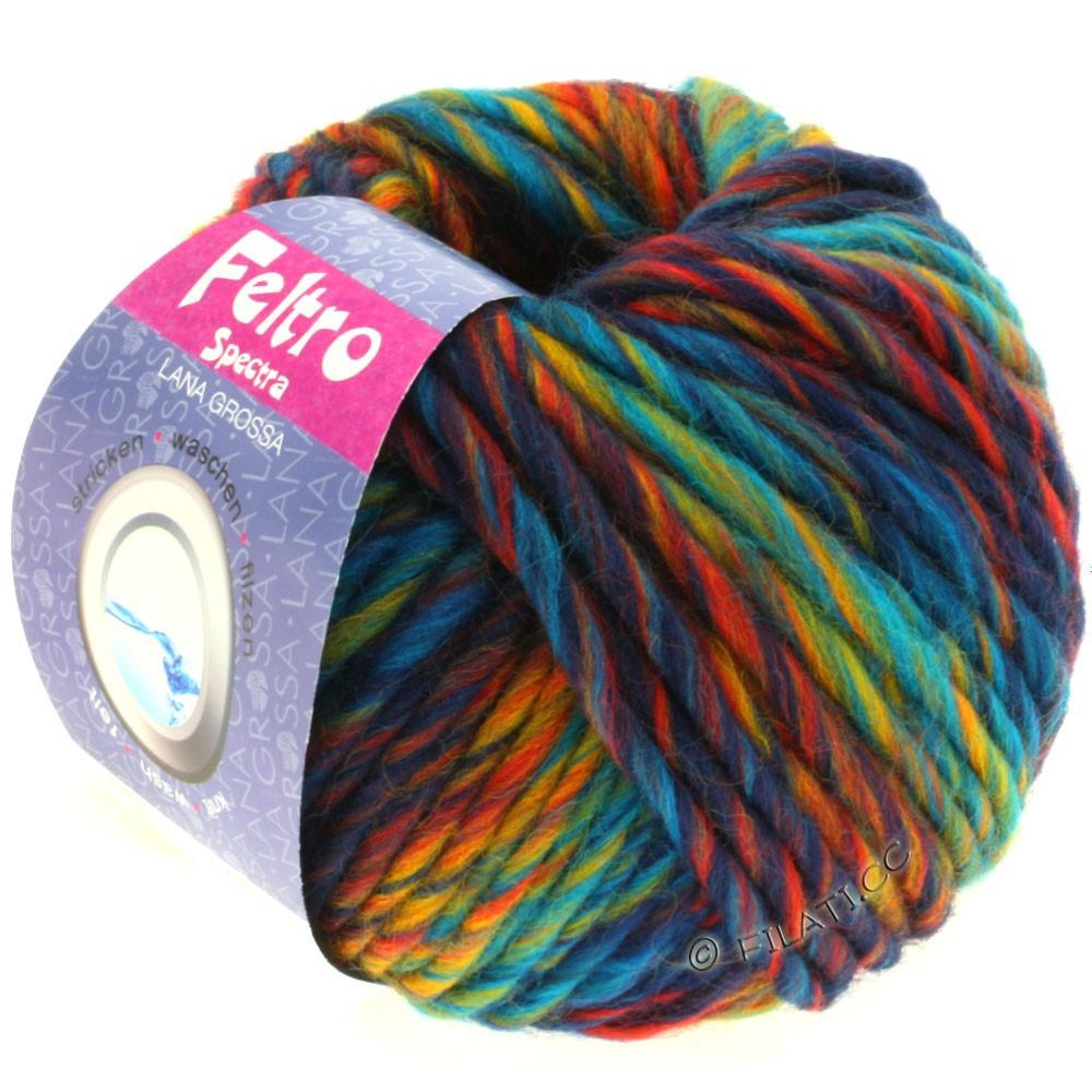 Lana Grossa FELTRO Spectra | 801-turquoise/bleu/jaune/rouge