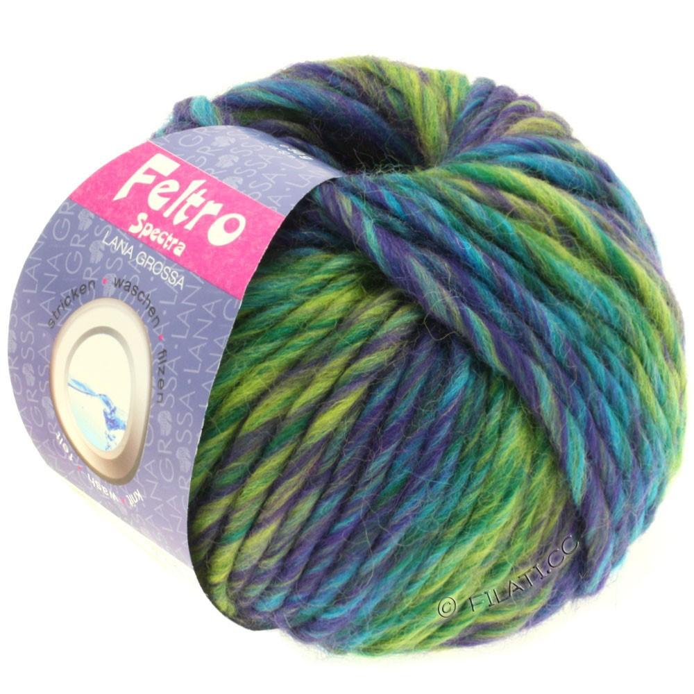 Lana Grossa FELTRO Spectra | 802-violet/vert jaune/pétrole/turquoise