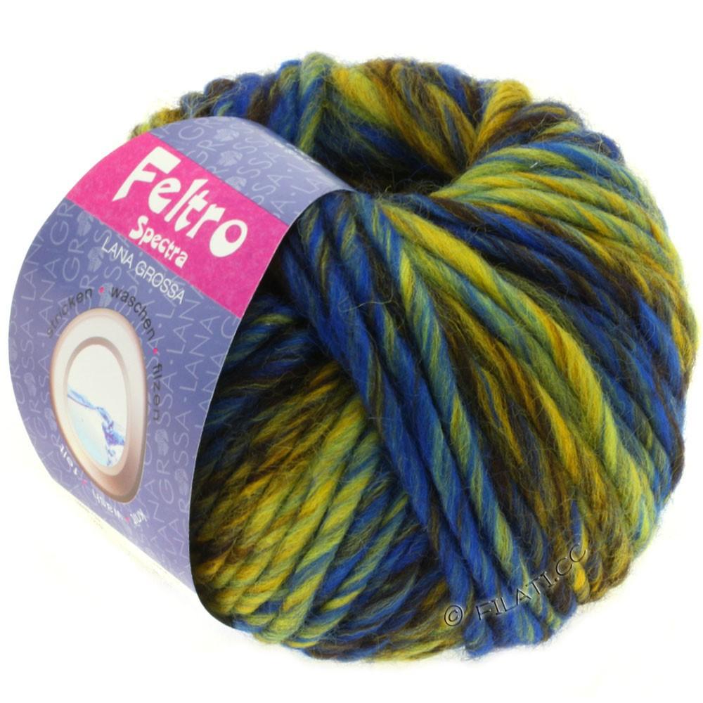 Lana Grossa FELTRO Spectra | 808-jaune/bleu/moka