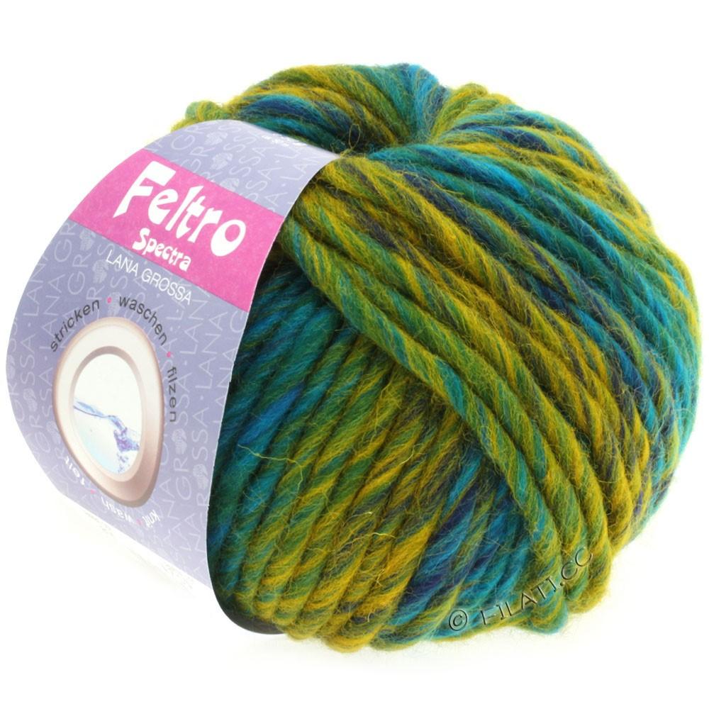Lana Grossa FELTRO Spectra | 814-turquoise/pétrole/jaune/marine