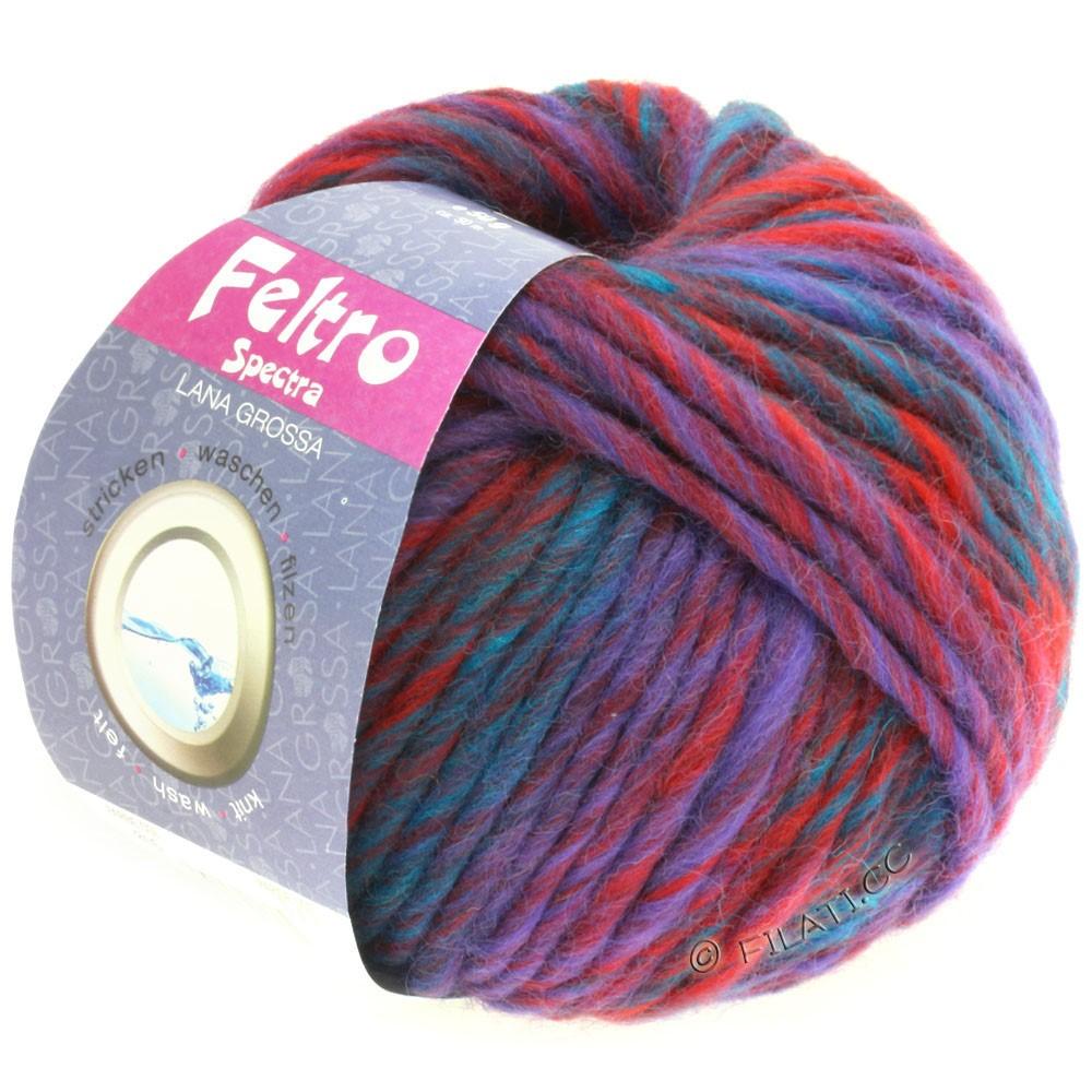 Lana Grossa FELTRO Spectra | 816-rouge foncé/violet/pétrole