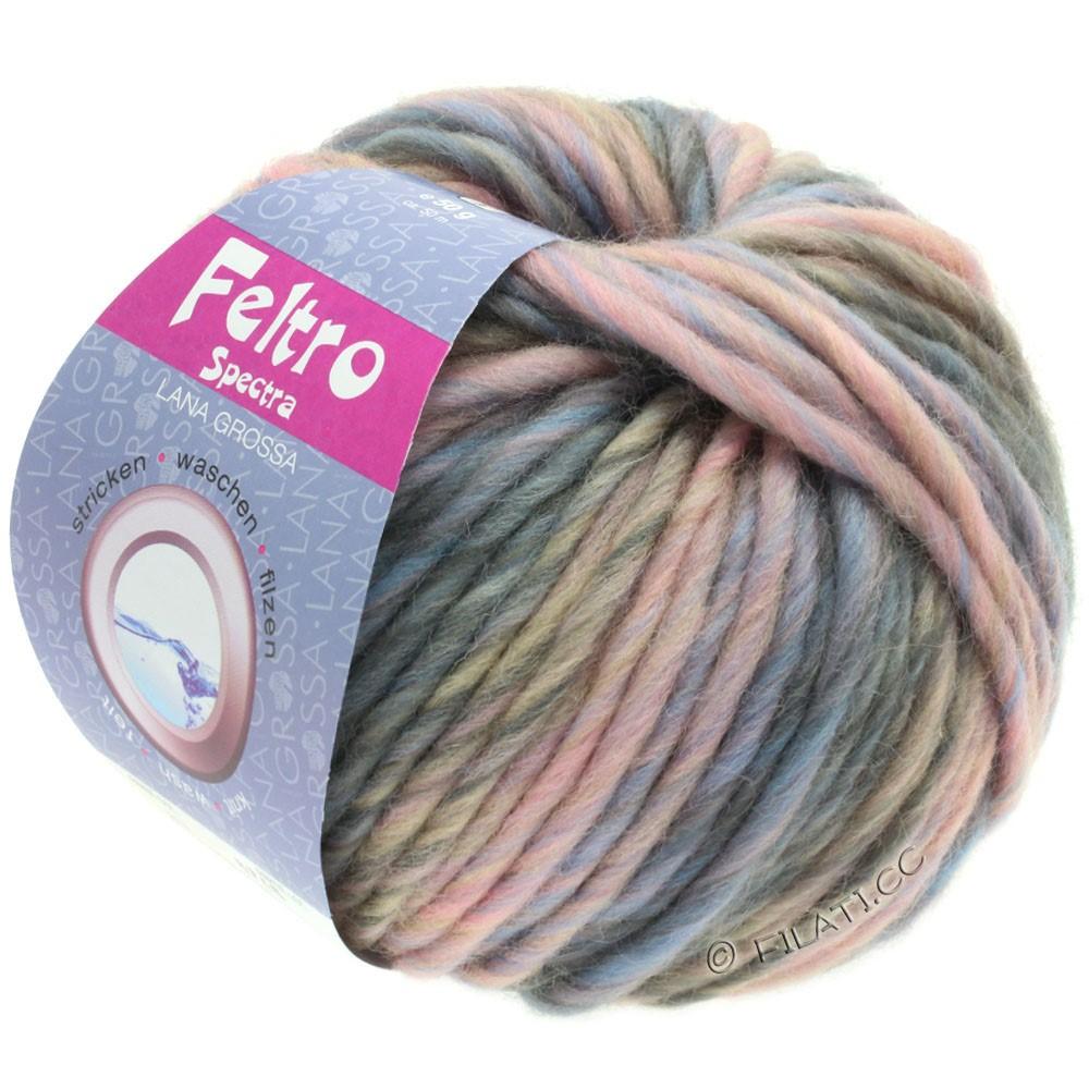 Lana Grossa FELTRO Spectra | 817-rose/bleu clair/gris/taupe
