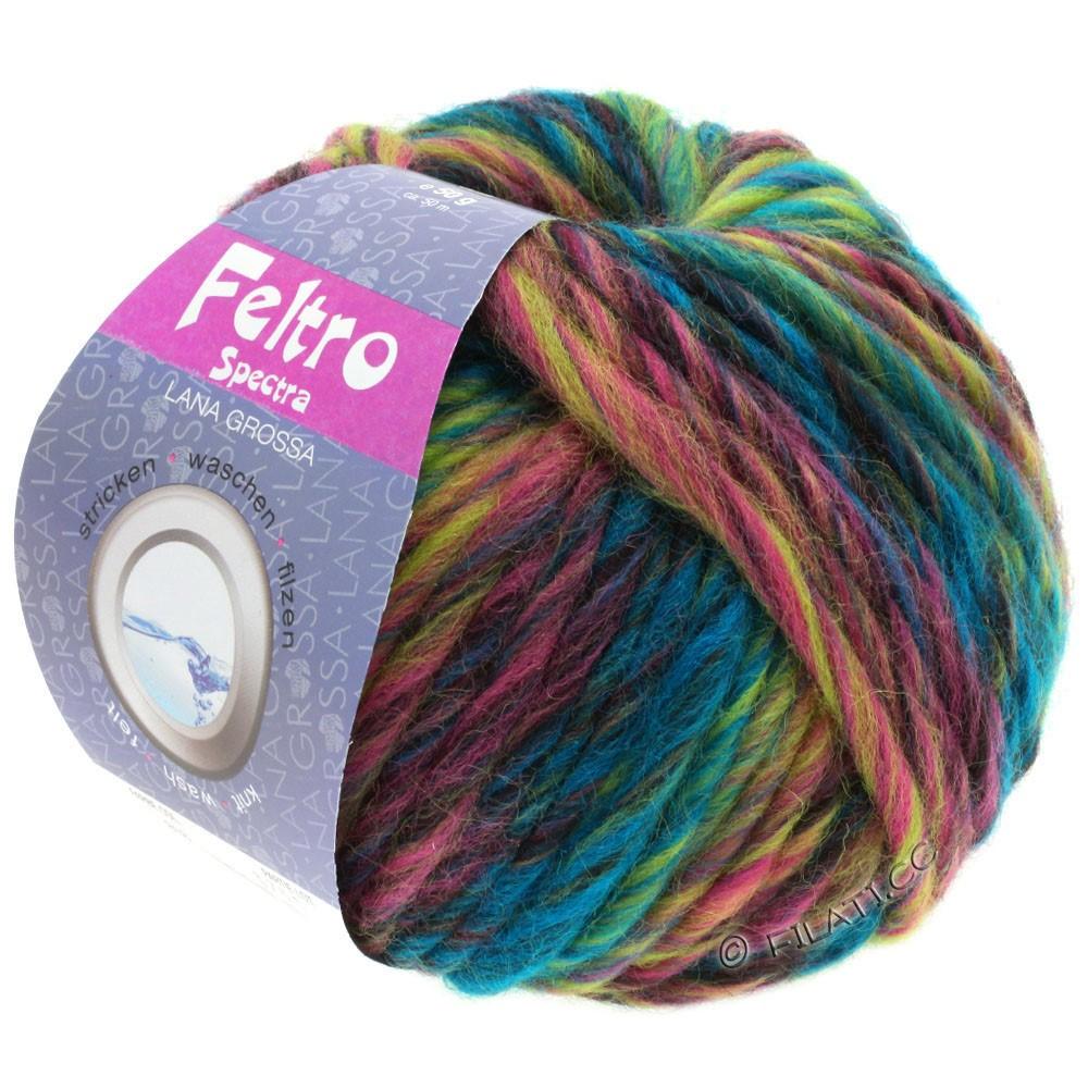 Lana Grossa FELTRO Spectra | 818-pétrole/vert jaune/rose/rose vif/bourgogne/anthracite