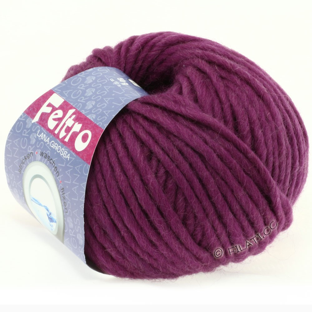 Lana Grossa FELTRO  Uni | 022-violet rouge