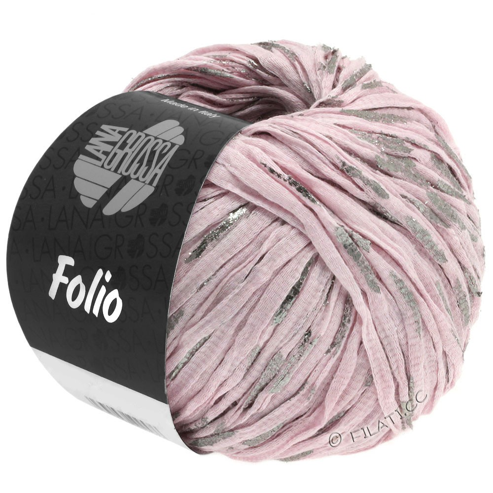 Lana Grossa FOLIO   03-rosé/argent