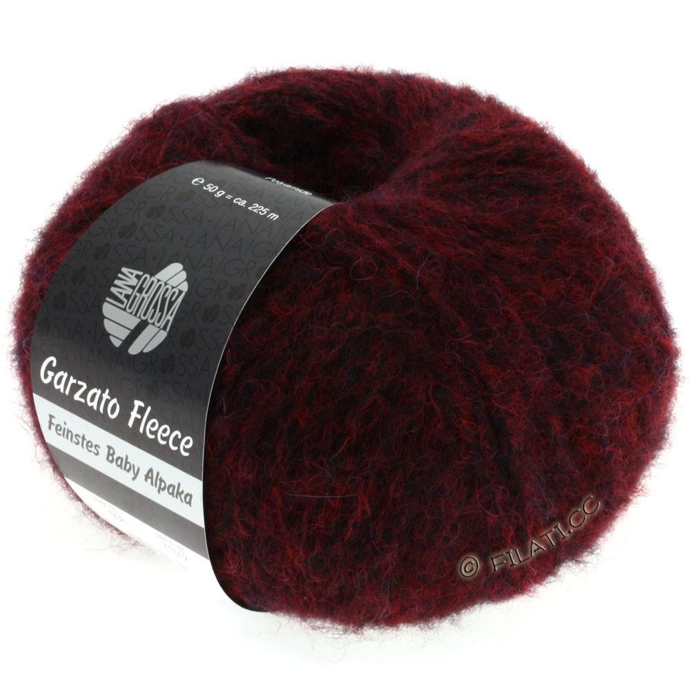 Lana Grossa GARZATO Fleece Uni/Print/Degradé | 008-rouge vin/noir