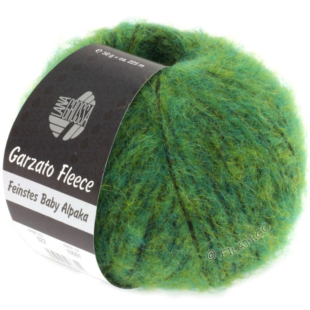 Lana Grossa GARZATO Fleece Uni/Print/Degradé | 022-vert/jaune/noir