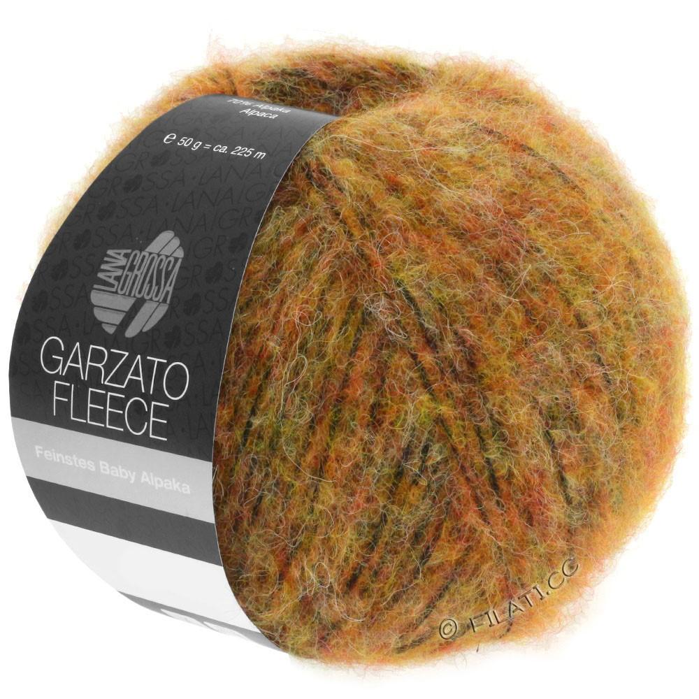 Lana Grossa GARZATO Fleece Uni/Print/Degradé | 029-jaune/orange/noir