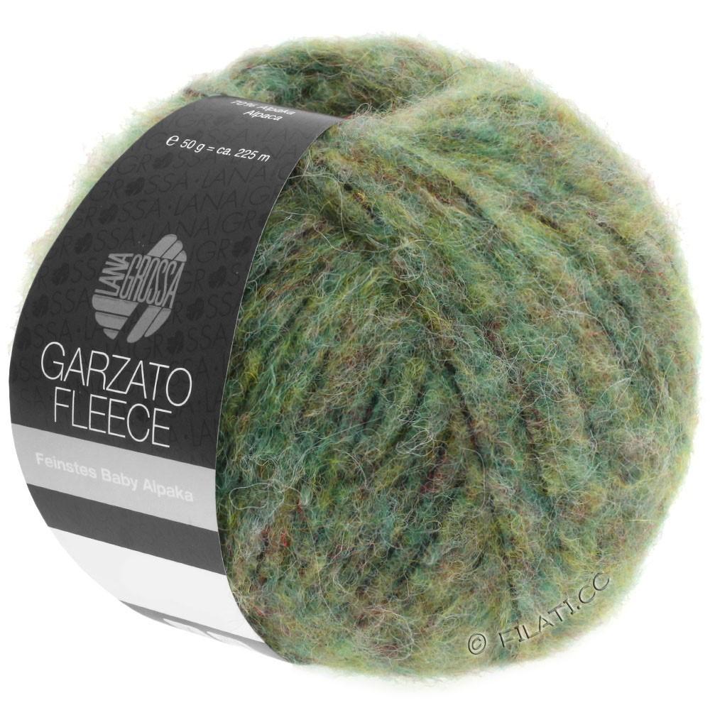 Lana Grossa GARZATO Fleece Uni/Print/Degradé | 030-vert clair/vert jaune/noir