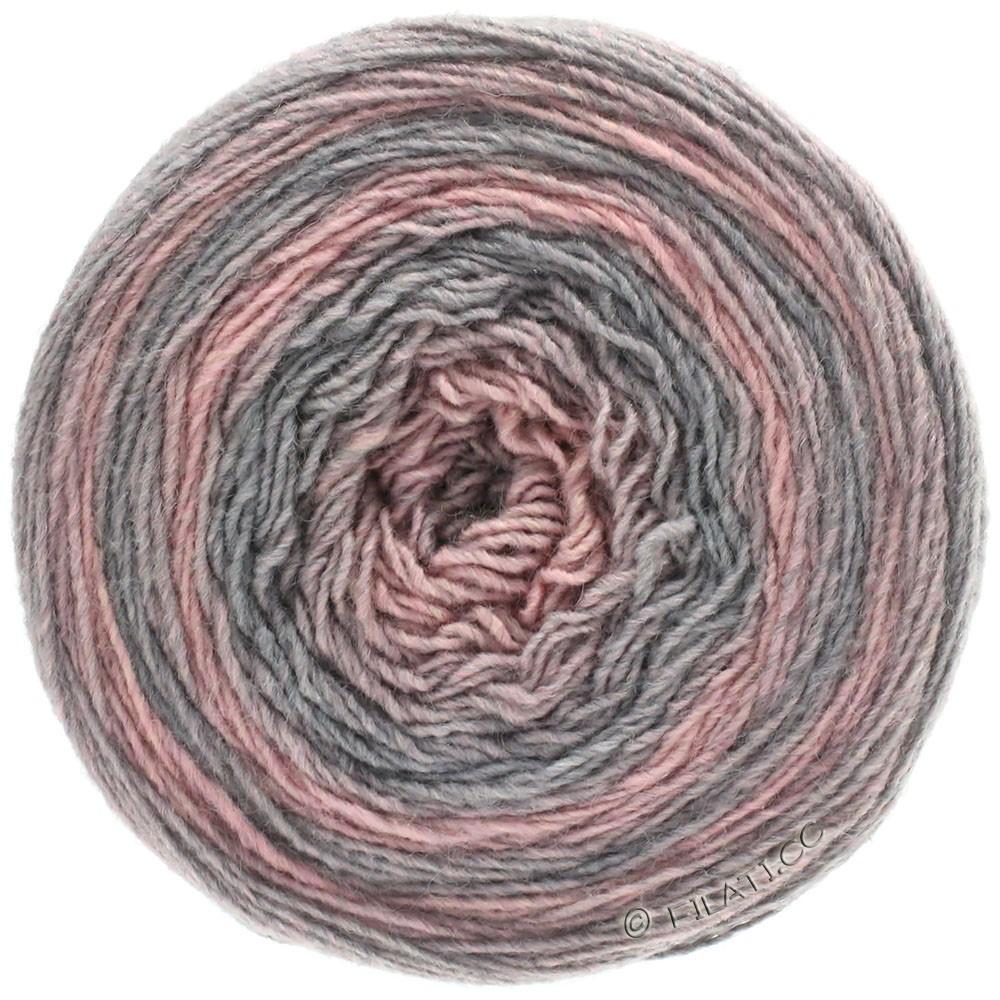 Lana Grossa GOMITOLO 200 Degradé | 303-gris clair/rose