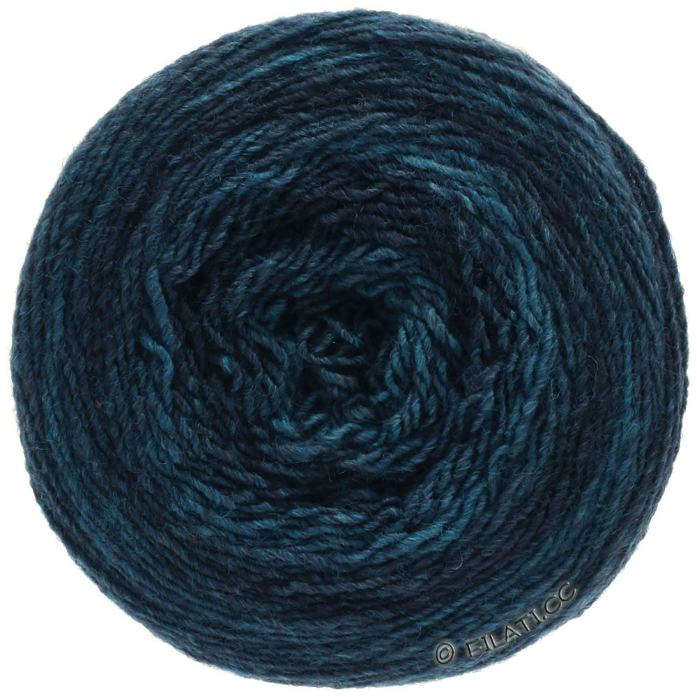 Lana Grossa GOMITOLO 200 Degradé | 307-bleu foncé/pétrole