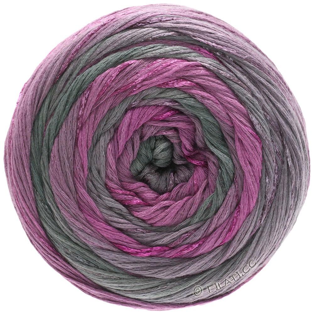 Lana Grossa GOMITOLO ESTATE | 303-violet rouge/mauve/gris/gris foncé