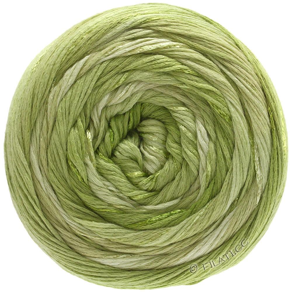 Lana Grossa GOMITOLO ESTATE | 308-olive clair/beau vert/beige vert/vert jaune