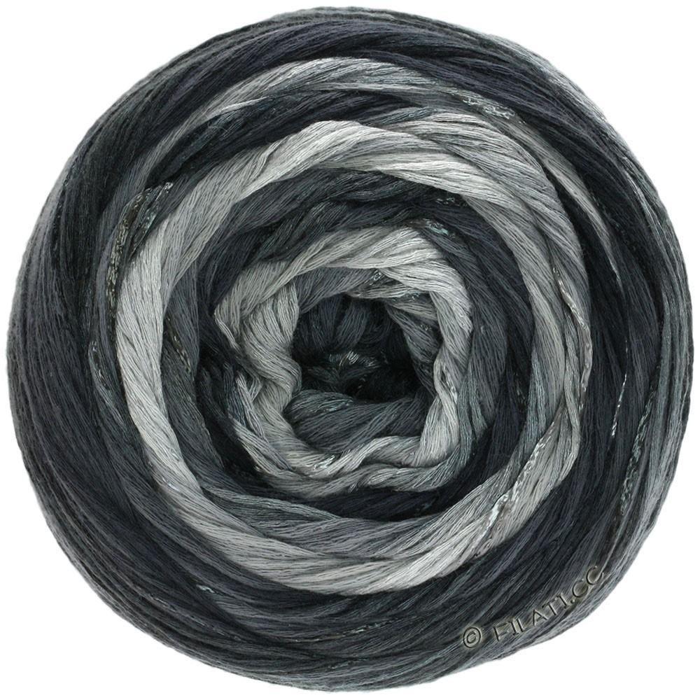 Lana Grossa GOMITOLO ESTATE | 310-gris clair/gris foncé/noir/nature