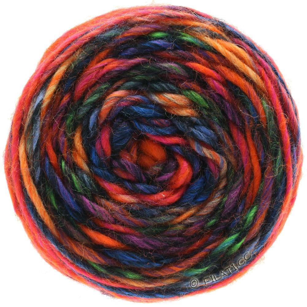 Lana Grossa GOMITOLO Merino | 05-orange/rouge/violet/pétrole/bleu/noir