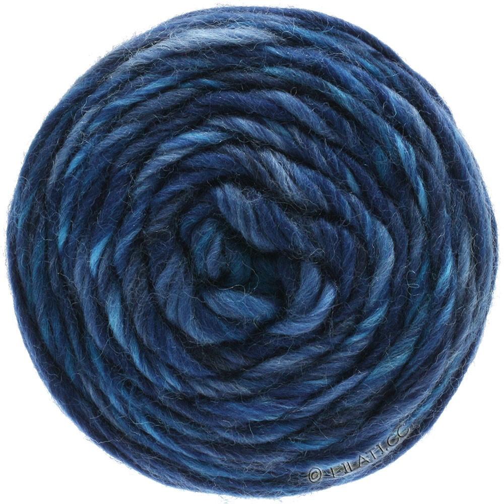 Lana Grossa GOMITOLO Merino | 09-bleu clair/jean/bleu foncé