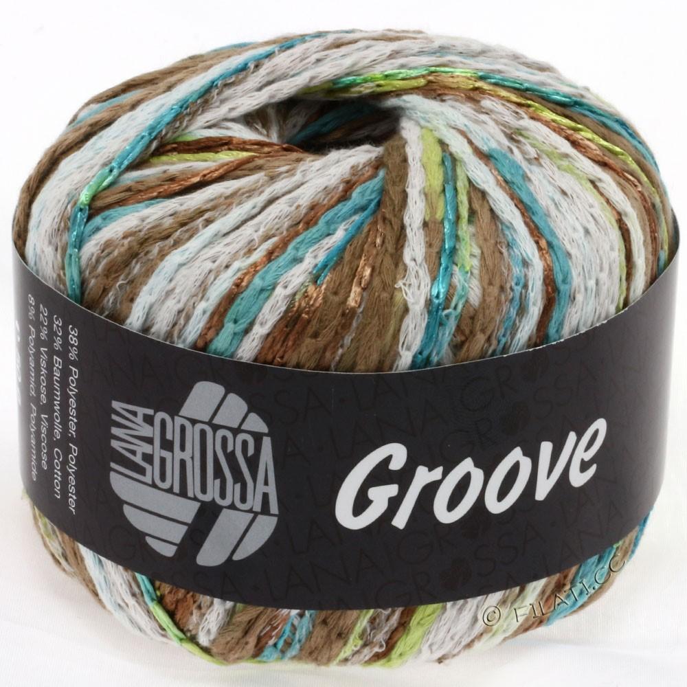 Lana Grossa GROOVE   02-pétrole/turquoise/brun clair/beau vert
